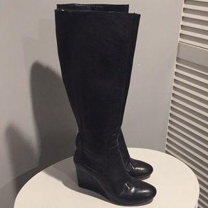 Nine West Knee High Wedge Boots